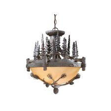 Yellowstone 3 Light Convertible Inverted Pendant