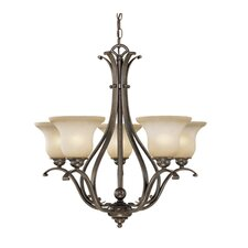 <strong>Vaxcel</strong> Monrovia 5 Light Chandelier