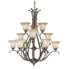 <strong>Vaxcel</strong> Monrovia 12 Light Chandelier