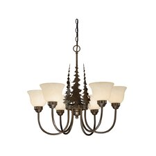 <strong>Vaxcel</strong> Yellowstone 6 Light Indoor Chandelier