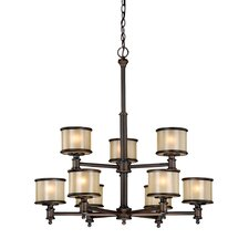<strong>Vaxcel</strong> Carlisle 9 Light Chandelier