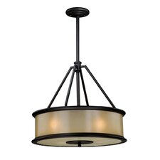 Carlisle 4 Light Drum Foyer Pendant