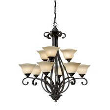 Caspian 9 Light Chandelier