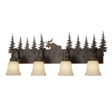 Yellowstone Indoor 4 Light Vanity Light