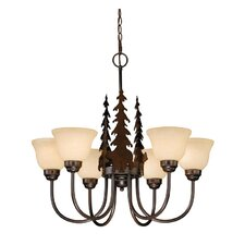 <strong>Vaxcel</strong> Bozeman 6 Light Chandelier