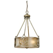 Newbury 3 Light Drum Foyer Pendant