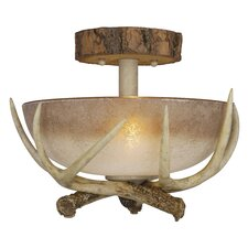 <strong>Vaxcel</strong> Lodge 2 Light Semi Flush Mount