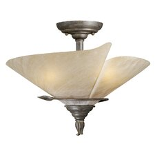 "<strong>Vaxcel</strong> Capri 15"" Semi Flush Mount"