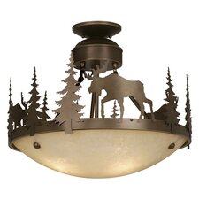 <strong>Vaxcel</strong> Yellowstone Indoor Semi Flush Mount