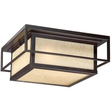 Robie Outdoor 2 Light Flush Mount