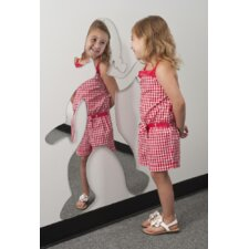 "36.5"" H x 32"" W Dancing Girl Silhouette Mirror"