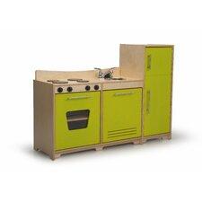3 Piece Contemporary Toddler Kitchen Set