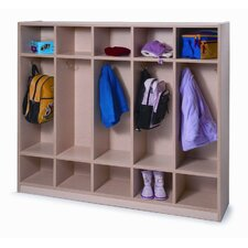 Melamine Coat Locker in Maple