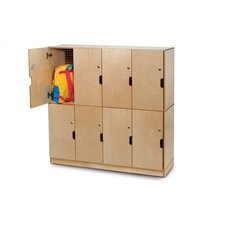 8-Section Backpack Storage Lockers
