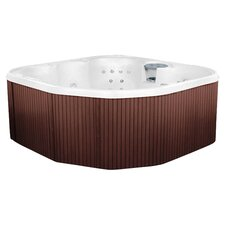 5 Person 17 Jet Rock Solid Sierra Plug and Play Spa