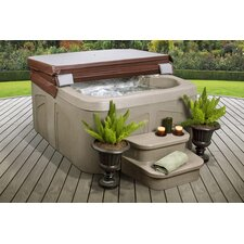 4-Person 12-Jet Rock Solid Simplicity Plug and Play Spa