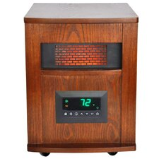 Life Pro 6 Element Infrared Heater with All Wood Cabinet & Remote
