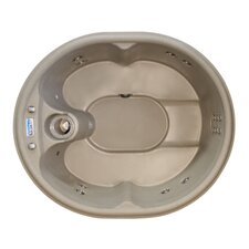4-Person 12-Jet Rock Solid Luna Plug and Play Spa