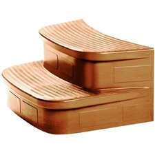 Matching Sandstone Spa Steps for The Luna Rock Solid Series Spa