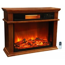Life Pro Large Easy Set Infrared Fireplace w/ Deluxe Mantle & Remote