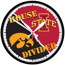 "Collegiate 12.75"" NCAA House Divided Wall Clock"