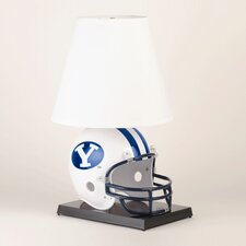 """Collegiate NCAA Deluxe Helmet 24"""" H Table Lamp with Empire Shade"""