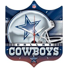 NFL High Def Plaque Wall Clock