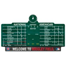 <strong>Wincraft, Inc.</strong> MLB Wood Sign - Chicago Cubs Wrigley Score