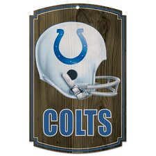 NFL Wood Sign - Helmet