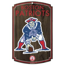 New England Patriots Wood Sign