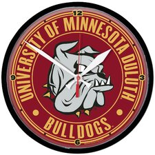University of Minnesota Duluth Bulldogs Clock