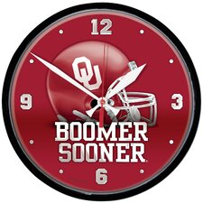"12.75"" University of Oklahoma Boomer Sooner Wall Clock"