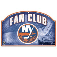 New York Islanders Fan Club Wood Sign