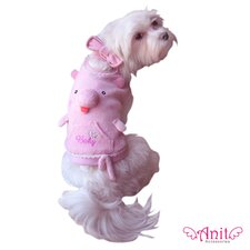Squeaker Nose Pig Tank Top Dog Costume