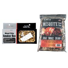 Mesquite Wood Chips with Smoker Box