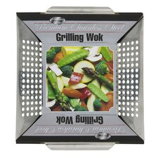 "12"" x 12"" Platinum Prestige Stainless Steel Grilling Wok Topper"