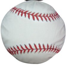 Round Baseball Dog Pillow
