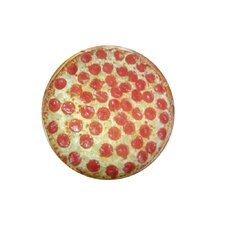Round Pizza Dog Pillow