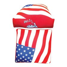 Rectangle American Flag Dog Bed