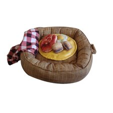 Picnic Basket Donut Dog Bed and Toys Set