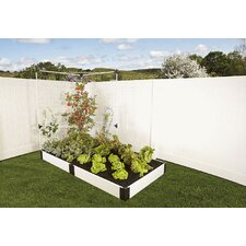 Classic White Rectangular Raised Garden