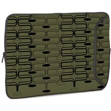 Olive Retro Curves Designer PC Sleeve