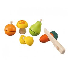 Preschool 6 Piece Fruit and Vegetable Play Set