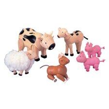 6 Piece Farm Animal Play Set