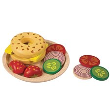Activity 9 Piece Bagel with Cheese Play Set