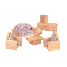 <strong>Plan Toys</strong> Dollhouse Living Room - Classic