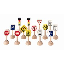 City 13 Piece Traffic Signs and Lights (USA) Play Set