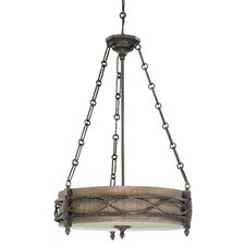 Ansel 3 Light Drum Pendant