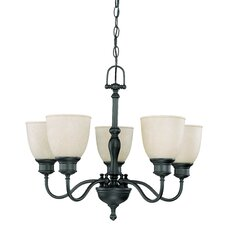 <strong>Nuvo Lighting</strong> Bella Arm Up 5 Light Chandelier