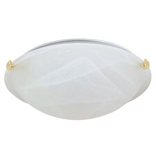 <strong>Nuvo Lighting</strong> Transitional Tri Clip Flush Mount
